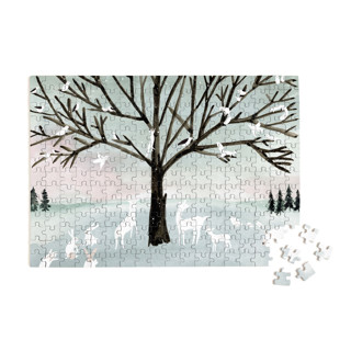 This is a blue puzzle by Eve Schultz called Winter Peace.