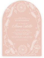 This is a pink sweet sixteen birthday party invitation by Kristin Sosa called Vintage Quinceanera with standard printing on signature in standard.