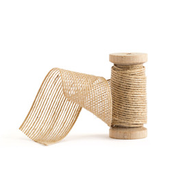 """This is a brown wedding ribbon by Minted called 1 1/2"""" Jute."""