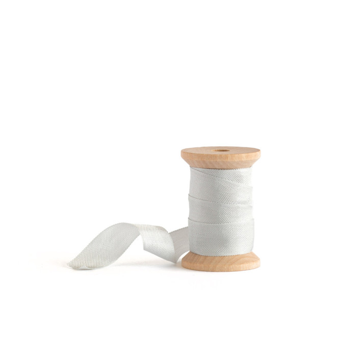 Dove Grey Shimmer Ribbon