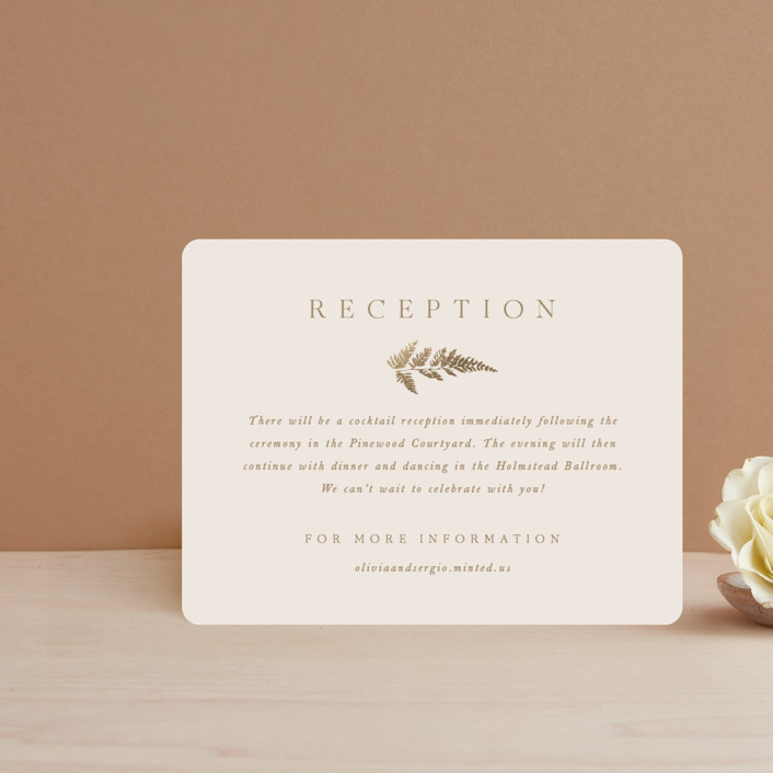 """""""Garden"""" - Foil-pressed Reception Cards in Mahogany by Leah Bisch."""