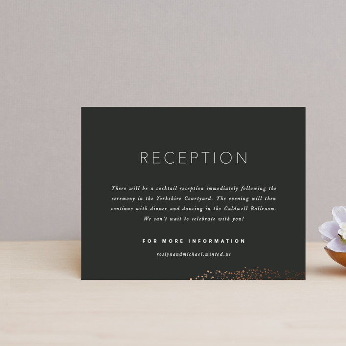 """Gather"" - Foil-pressed Reception Cards in Ebony by Leah Bisch."