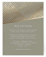 This is a brown foil stamped wedding invitation by Chris Griffith called Wedding Lines with foil-pressed printing on signature in standard.