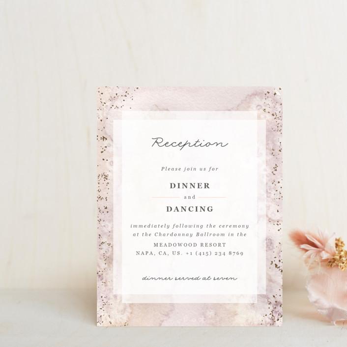 """Champagne"" - Modern Foil-pressed Reception Cards in Flutter by Sweta Modi."