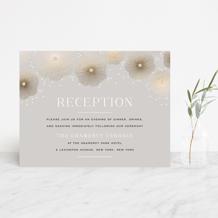 """Perfect Harmony"" - Foil-pressed Reception Cards in Slate by Design Lotus."