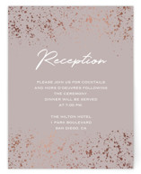 This is a brown foil stamped wedding invitation by Juliana Zimmermann called Paint Splash with foil-pressed printing on signature in standard.