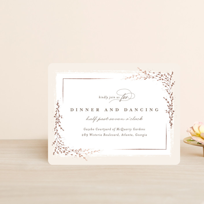 """""""positano"""" - Foil-pressed Reception Cards in Champagne by chocomocacino."""