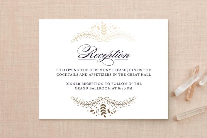 """Wedding Waltz"" - Foil-pressed Reception Cards in Plum by lena barakat."