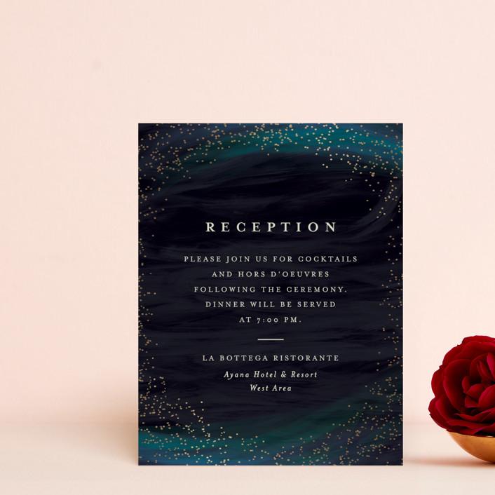 """""""borealis"""" - Modern Foil-pressed Reception Cards in Zircon by chocomocacino."""