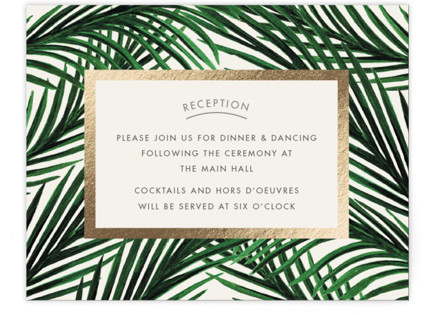 Tropical Love Foil-Pressed Reception Cards