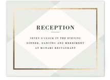 Creme Brulee Foil-Pressed Reception Cards
