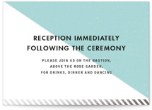 Come Fly with Us Foil-Pressed Reception Cards