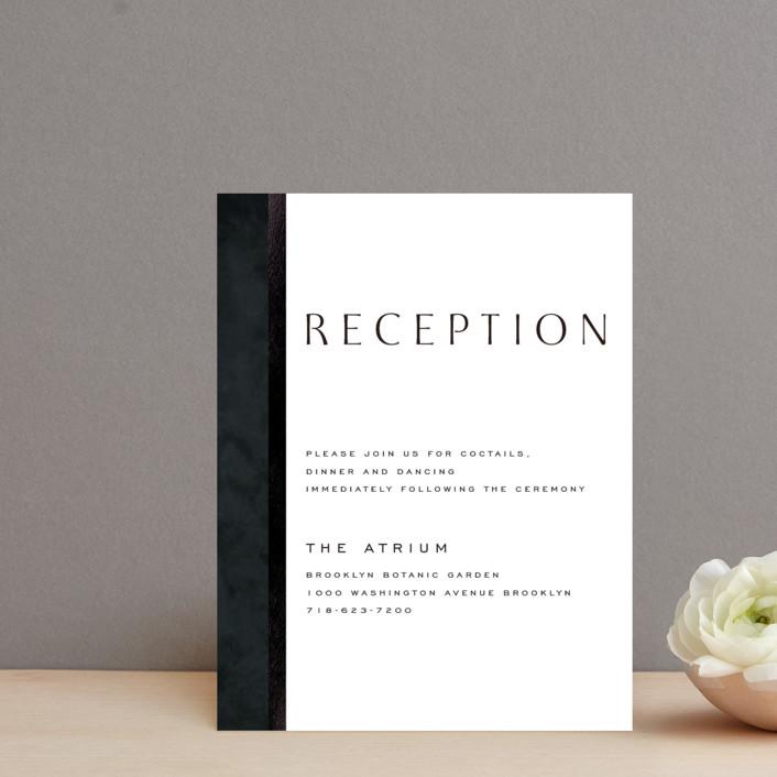 """Element"" - Foil-pressed Reception Cards in Tuxedo by Yuliya Evseeva."
