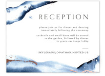 This is a blue foil stamped wedding invitation by Anastasia Makarova called Indigo with foil-pressed printing on signature in standard.