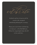 This is a grey foil stamped wedding invitation by Jessica Williams called Over Monogram with foil-pressed printing on signature in standard.