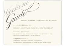 Winter Flourish Foil-Pressed Reception Cards