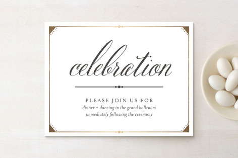 Fanciful Names Foil-Pressed Reception Cards