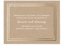 Gold Rush Foil-Pressed Reception Cards