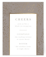 This is a grey foil stamped wedding invitation by Kristie Kern called Marais with foil-pressed printing on signature in standard.