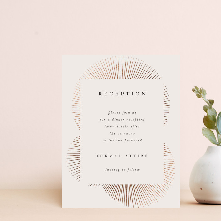 """""""Starburst"""" - Modern Foil-pressed Reception Cards in Champagne by letterfix."""