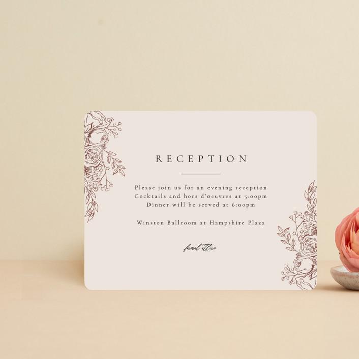 """Floral Frame"" - Foil-pressed Reception Cards in Powder by frau brandt."