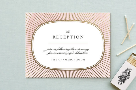 Plaza Foil-Pressed Reception Cards