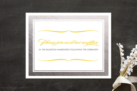 Cocktail Hour Foil-Pressed Reception Cards