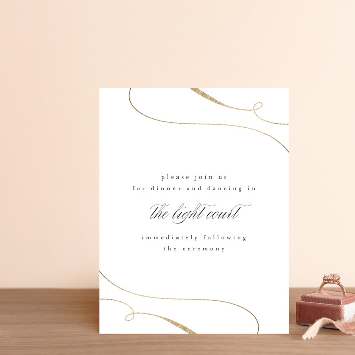 """Classic Union"" - Foil-pressed Reception Cards in Tuxedo by Lehan Veenker."