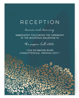Deep Ocean Currents Foil-Pressed Reception Cards