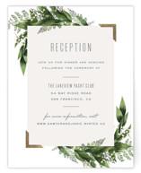 Diamante Foil-Pressed Reception Cards