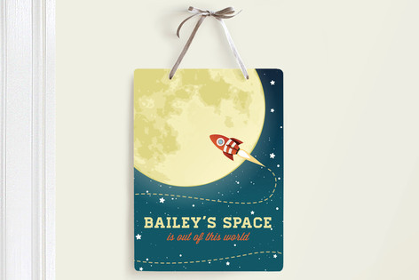 Out of This World Room Decor Signs