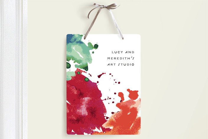 """Art Studio"" - Room Decor Signs in Ruby by Fig and Cotton."