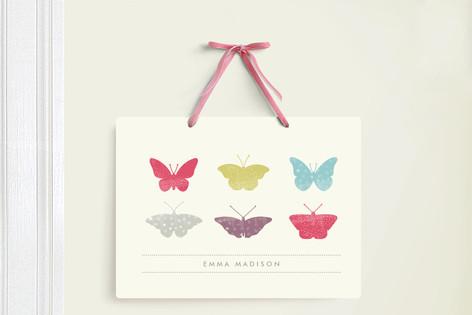 Butterfly Specimen Room Decor Signs