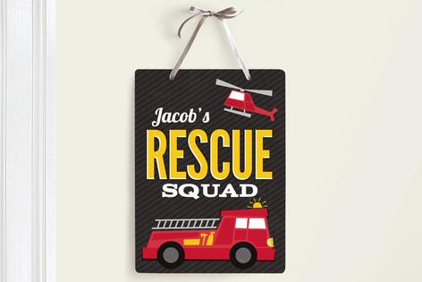 Rescue Squad Room Decor Signs