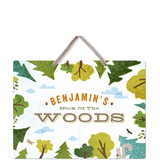 This is a green kids room decor by Jennifer Wick called Deep in the Forest with standard printing on triplethick in sign.