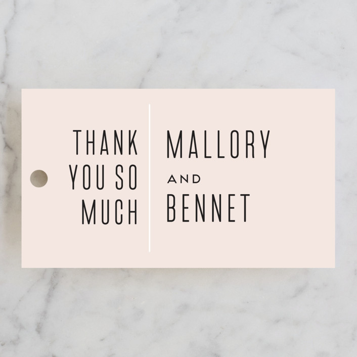 """There's More Before"" - Rehearsal Dinner Favor Tags in Blush by Kaydi Bishop."