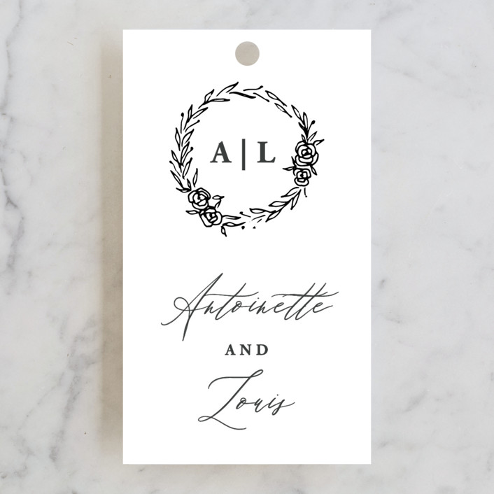 """Antoinette"" - Rehearsal Dinner Favor Tags in Ivory by lulu and isabelle."