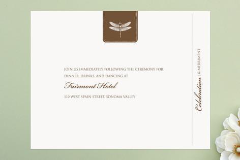 Classic Dragonfly Emblem Reception Cards
