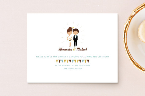 Cake Toppers Reception Cards
