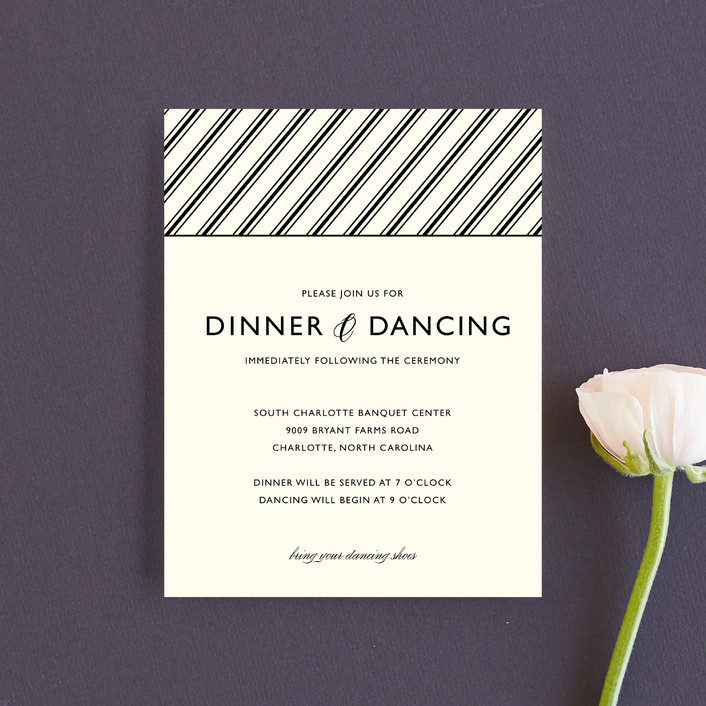 """""""Moments Captured"""" - Modern Reception Cards in Ivory by Carrie Eckert."""