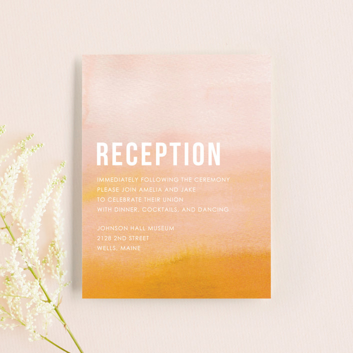 """""""Ombre"""" - Reception Cards in Mandarin by Dean Street."""