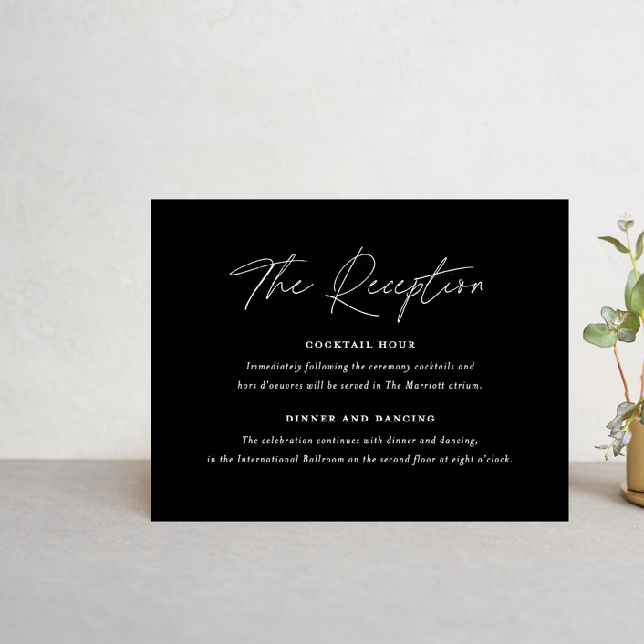 """""""Landscape"""" - Reception Cards in Black Tie by Laura Hamm."""