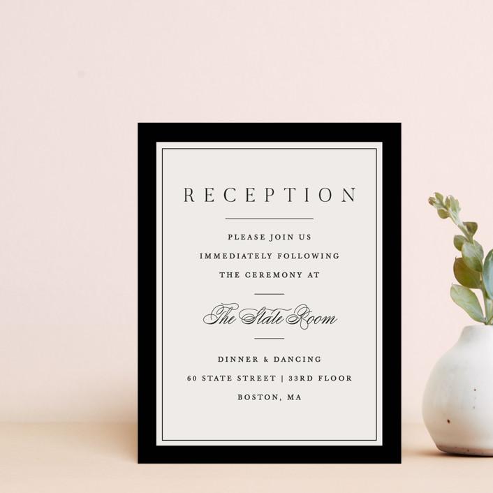 """Cambridge"" - Reception Cards in Tuxedo by Amy Kross."
