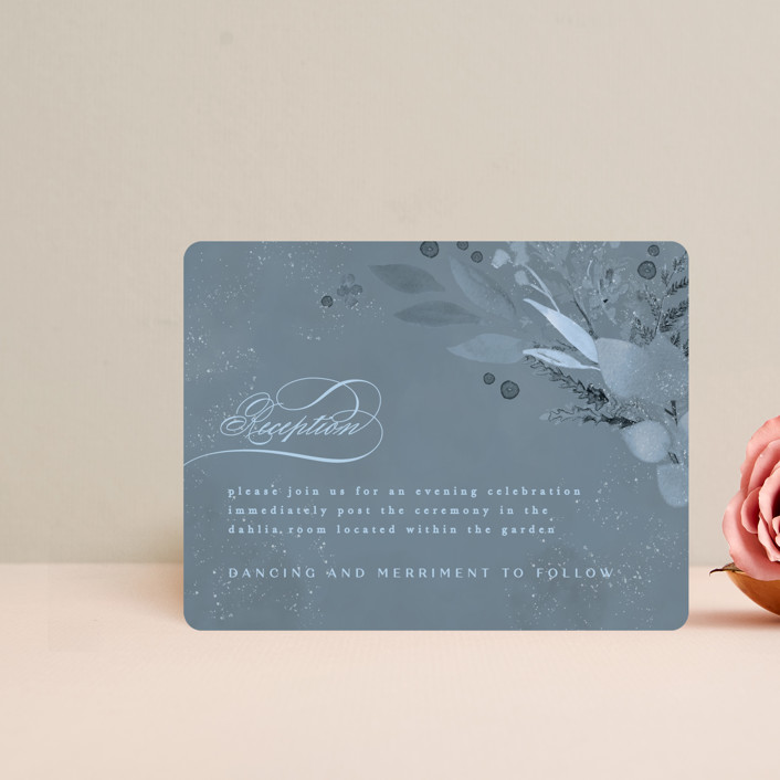"""""""Wonderful Tonight"""" - Reception Cards in Neptune by Creo Study."""