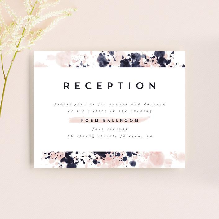 """artful celebration"" - Reception Cards in Blush by Qing Ji."