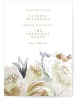 romantic bouquet Reception Cards