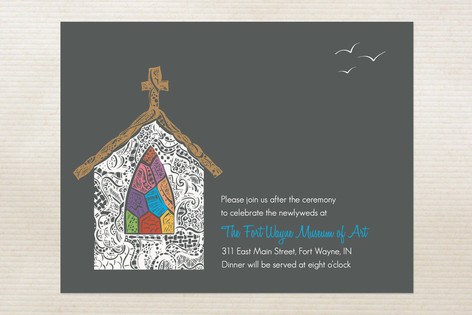 Quiet Chapel Reception Cards