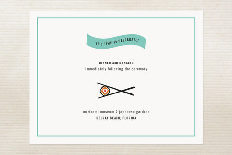 Sushi Love Reception Cards