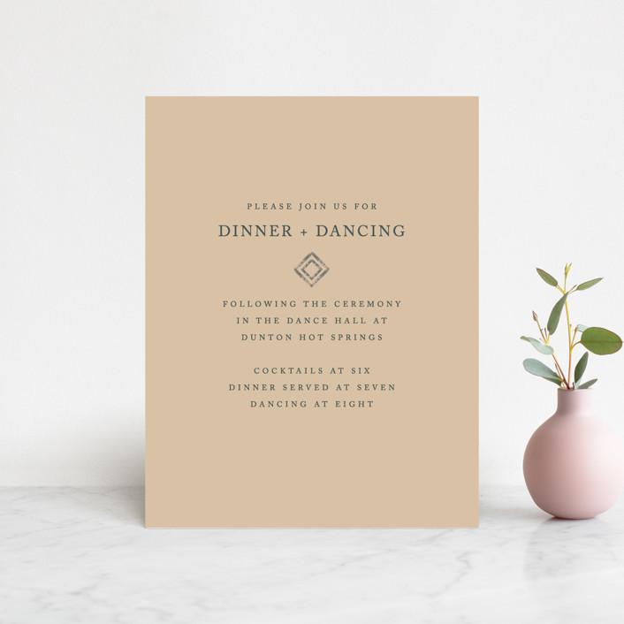 """Simply Modern"" - Modern Reception Cards in Jade by Something Noir."