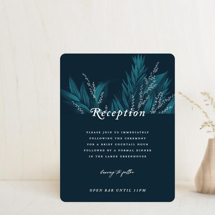 """Moonlit Garden"" - Reception Cards in Twilight by GeekInk Design."